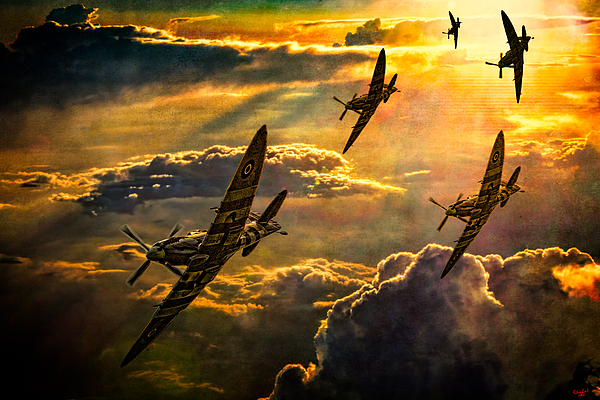 Fighter Photograph - Spitfire Attack by Chris Lord