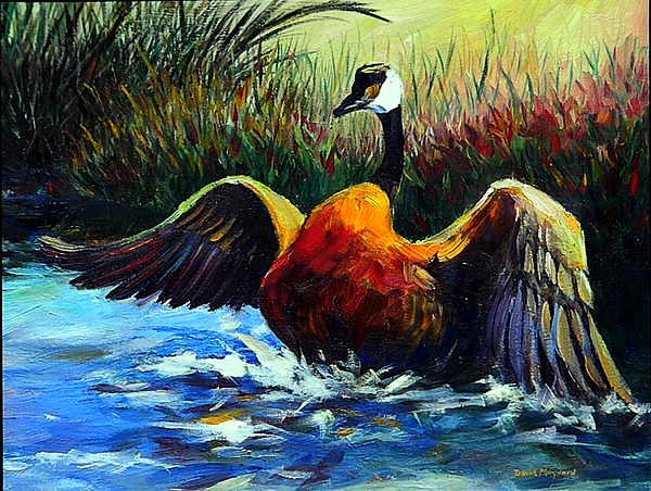 Wildlife Painting - Splash Dance by David  Maynard