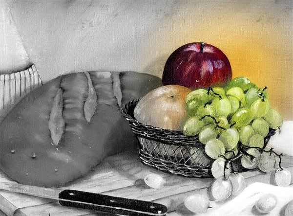 Fruit Painting - Splash Of Color by Penny Everhart