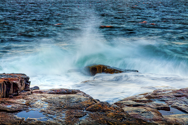 Acadia National Park Photograph - Splash by Susan Cole Kelly