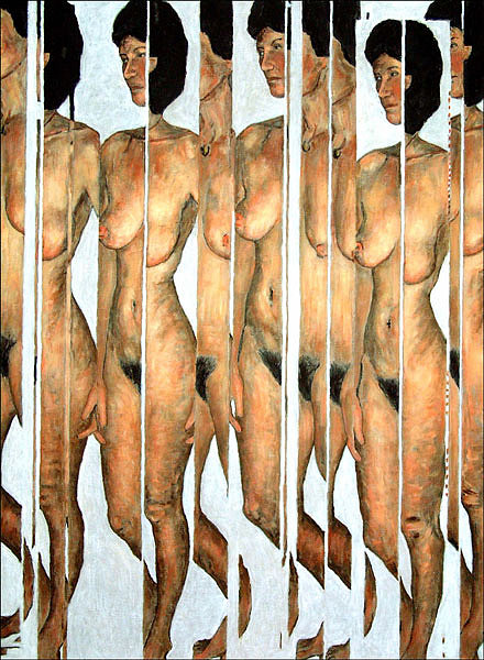 Figure Painting - Split Personality by Keith  Webb