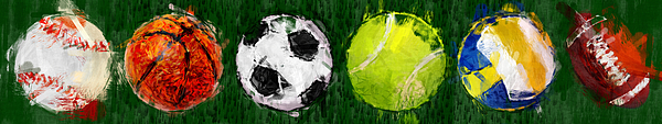 Ball Photograph - Sports Balls Abstract by David G Paul