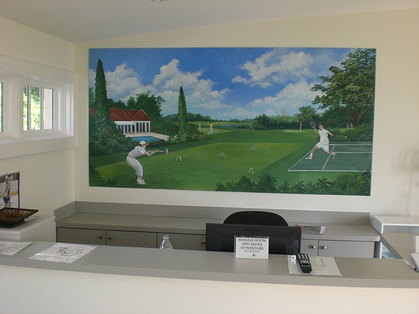 sports images mural-Mountain Lake -Florida Painting by Scott K Wimer