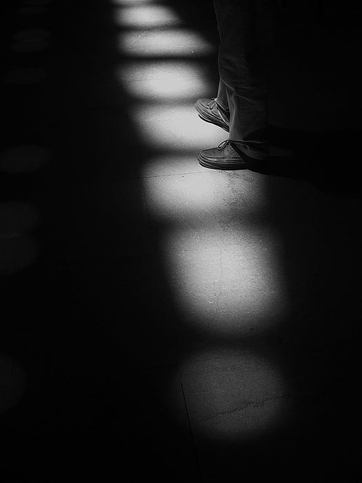 Light Photograph - Spots Feet by Michael Cohen