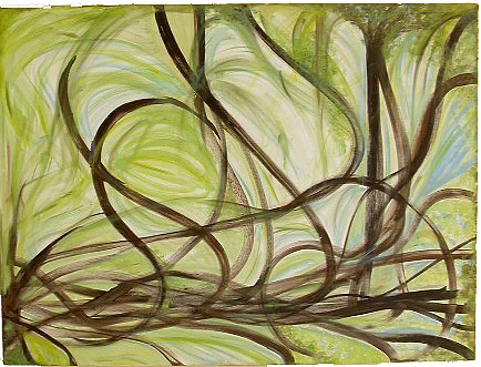 Abstract Painting - Spring - Sprouting by Rae Chichilnitsky