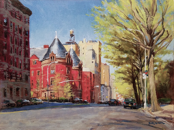 New York Painting - Spring Afternoon, Central Park West by Peter Salwen