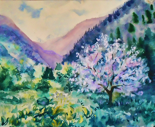 Trees Painting - Spring by Anastasia Michaels