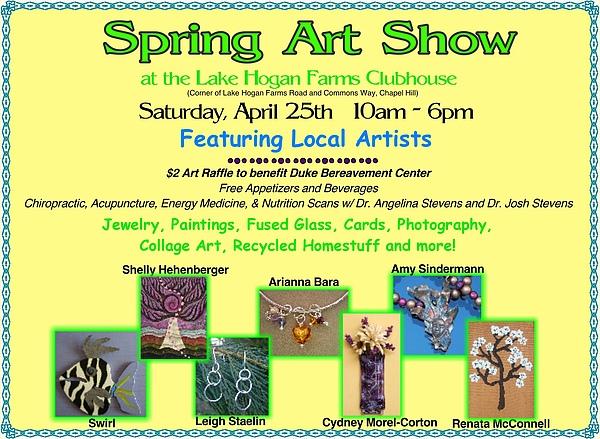 Art Show Painting - Spring Art Show by Cydney Morel-Corton
