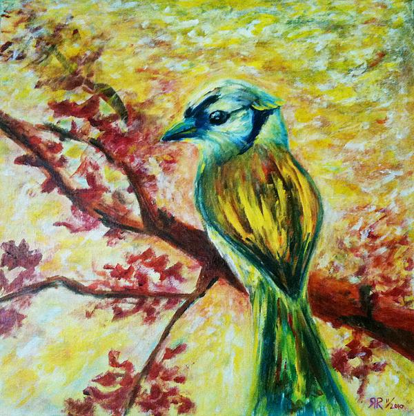 Spring Painting - Spring Bird by Rashmi Rao