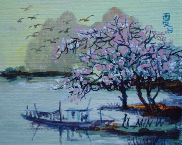 Spring Painting - Spring Blossoms by Min Wang