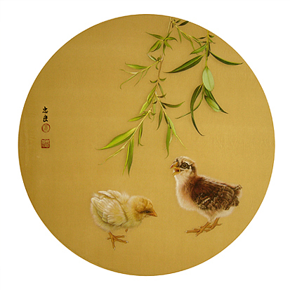 Mallard Painting - Spring Buds  by Zhongliang Jiang