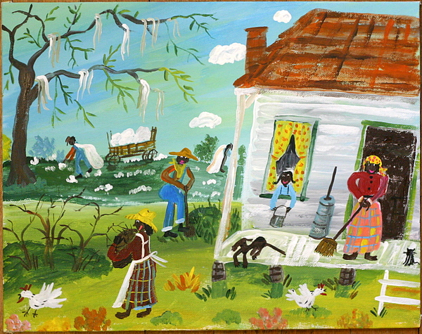 Spring Cleaning Painting by Julie Schronk