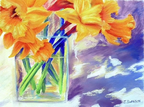 Daffodil Pastel - Spring Daffodils by Joan Swanson