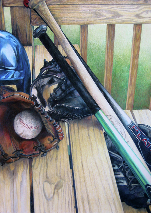Baseball Painting - Spring Fever by Catherine Henry