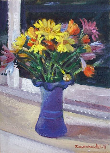 Spring Flouers Painting by George Siaba
