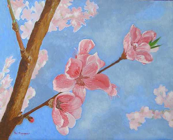 Flowers Painting - Spring Flowers by Thi Nguyen