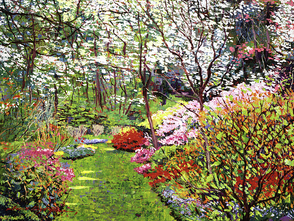 Impressionist Painting - Spring Forest Vision by David Lloyd Glover