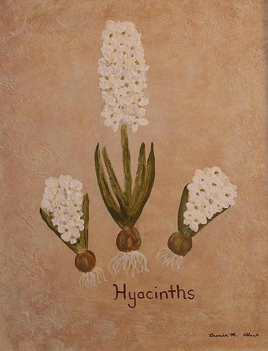 Spring Flower Painting - Spring Hyacinths by Brenda Marie Black