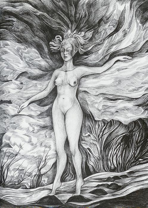 Fantasy Drawing - Spring II by Anna  Duyunova