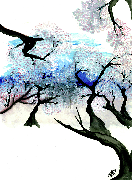 Landscape Painting - Spring In Japan by Tiphanie Erickson