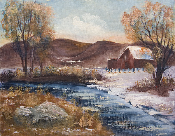 Landscape Painting - Spring In The Foothills by Julie Gerber