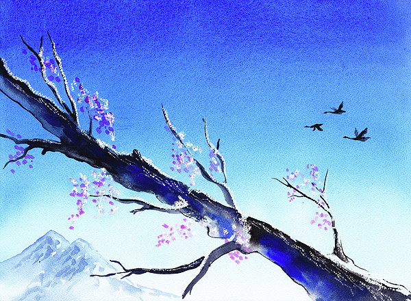 Blue Painting - Spring In The Mountains by Irina Sztukowski