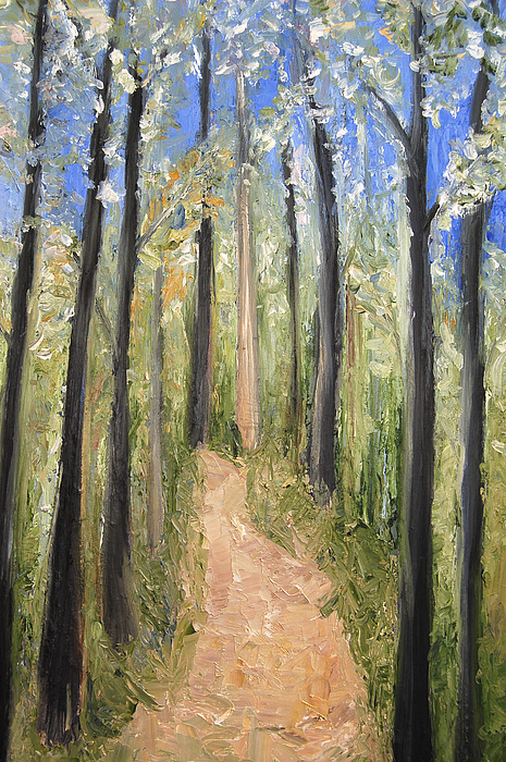 Forest Painting - Spring by Lisa Konkol