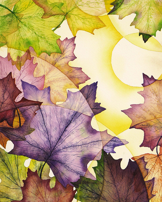 Watercolor Painting - Spring Maple Leaves by Christina Meeusen