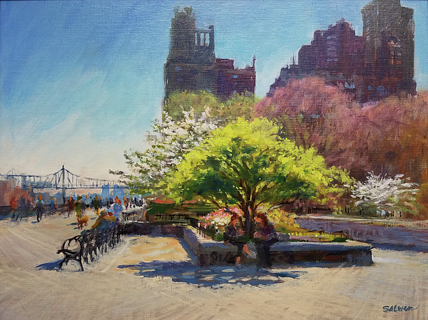 Landscape Painting Painting - Spring Morning On John Finley Walk by Peter Salwen