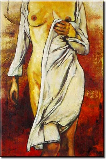 Nude Painting - Spring Nude by Yvonne Yu