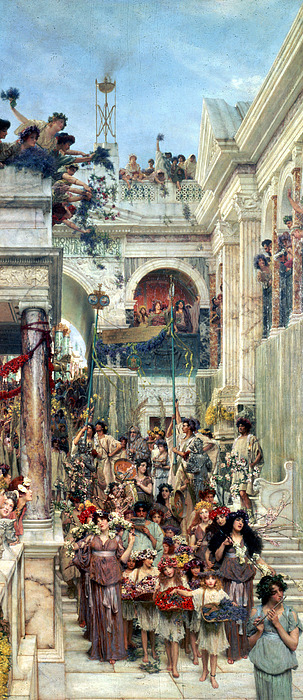 Spring Painting - Spring by Sir Lawrence Alma-Tadema