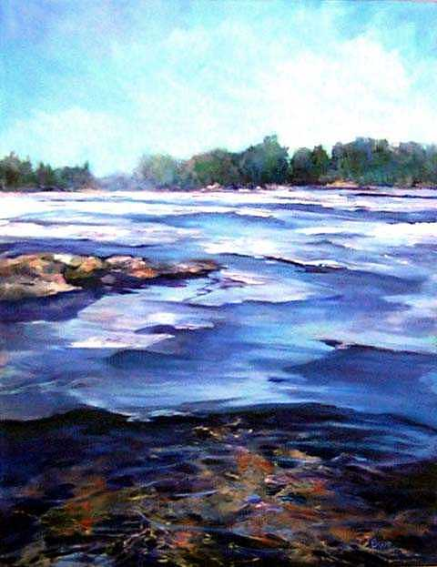 Spring Thaw Painting by Cathy Boyd