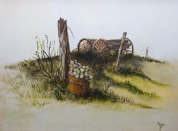Western Painting - Spring Wagon by Julie Gerber