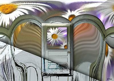 Spring Digital Art - Springs Door by Brenda Starr