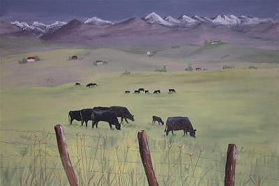 Oregon Painting - Springtime In Baker County by Dora Gourley