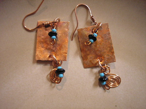 Copper Jewelry - Square But Cool by Angie DElia