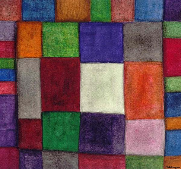 Abstract Painting - Squares I by William Burgess