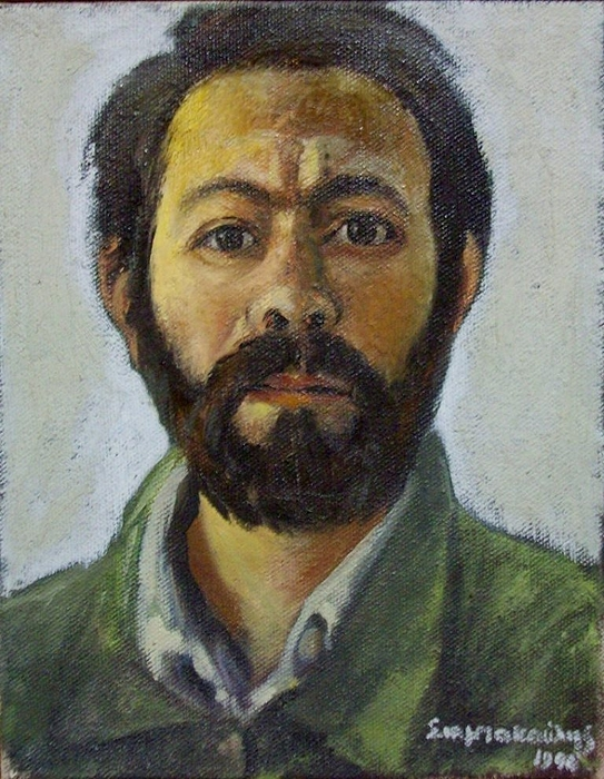 Portrait Painting - Srlfportrait by George Siaba