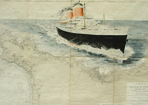 Boat Painting - Ss United States by Patrice Large
