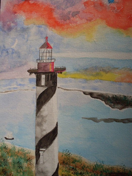 St Augustine Fl Lighthouse Painting By Warren Thompson