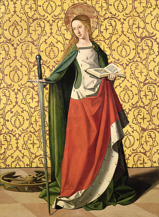 Catherine Painting - St. Catherine Of Alexandria by Josse Lieferinxe