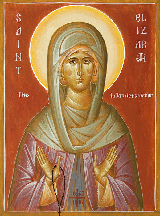 Orthodox Icon Painting - St Elizabeth The Wonderworker by Julia Bridget Hayes