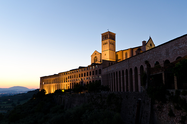 Italy Photograph - St Francis Assisi At Sundown by Jon Berghoff
