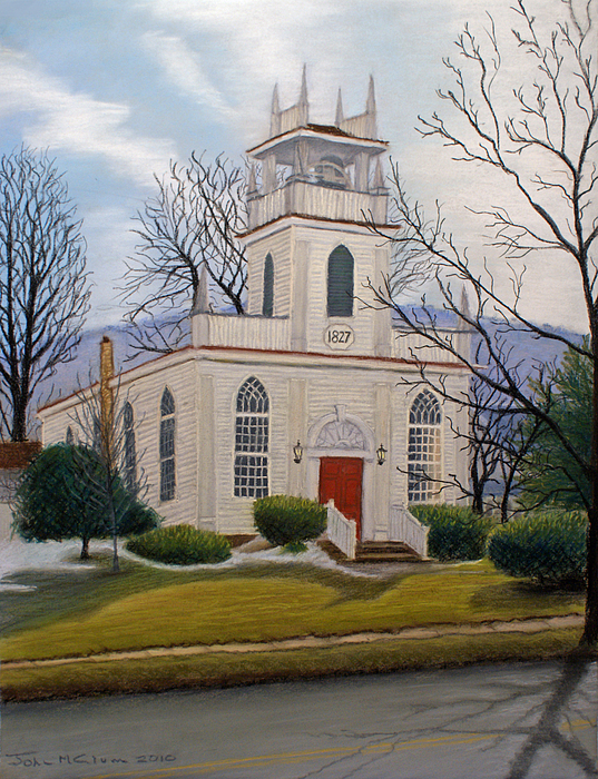 Church Painting - St. Marks  by John Clum
