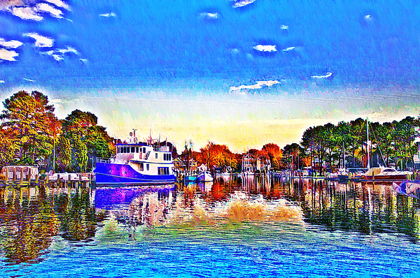 St. Michael's Photograph - St. Michaels Marina by Bill Cannon