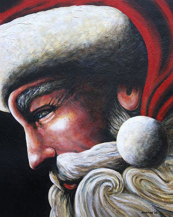 Santa Claus Painting - St. Nick by Doug Norton