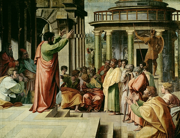 Paul Painting - St. Paul Preaching At Athens  by Raphael