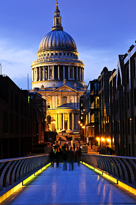 Saint Photograph - St. Pauls Cathedral From Millennium Bridge by Elena Elisseeva