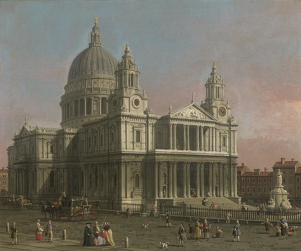 Paul Painting - St. Pauls Cathedral by Giovanni Antonio Canaletto