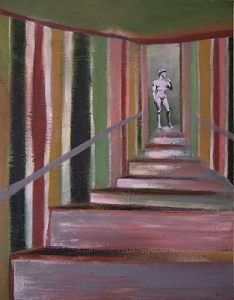 Man Painting - Stairs To David by Scott Spencer